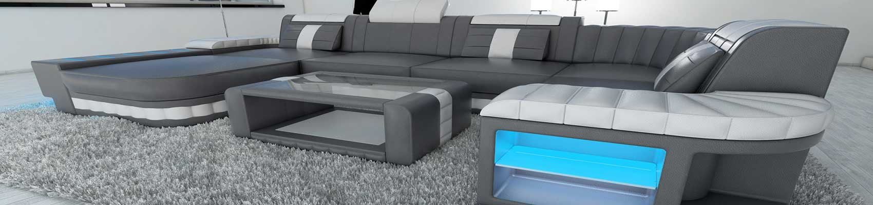 Store sektions sofaer i læder