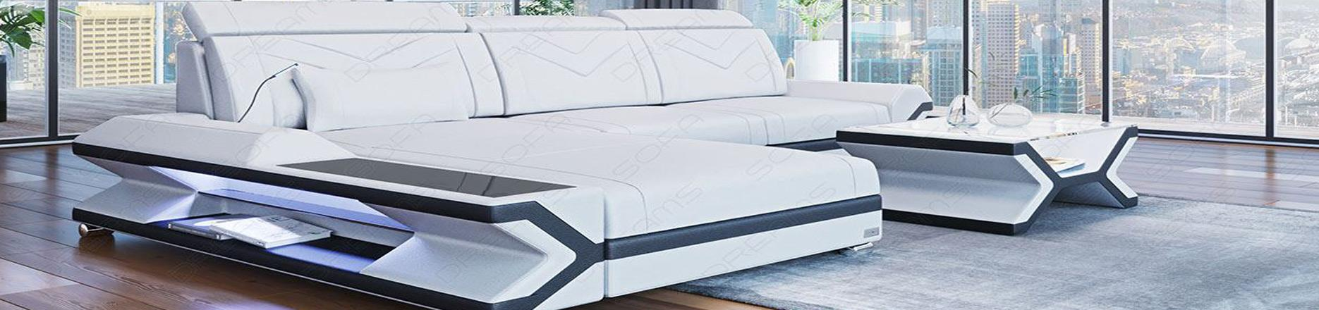 Små Sektions sofaer i Læder