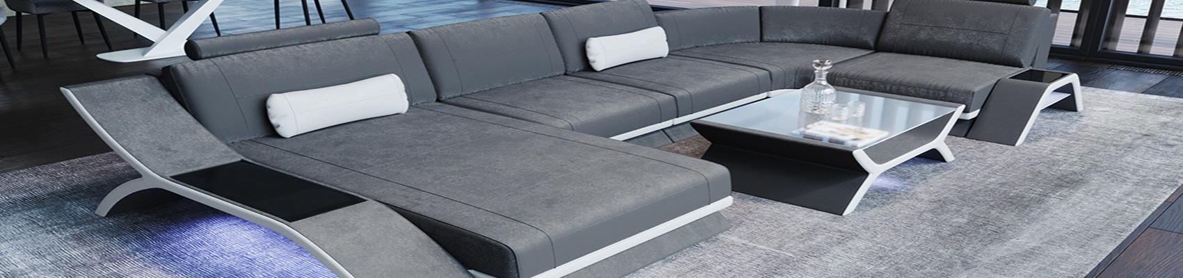 Store stof sektions sofaer