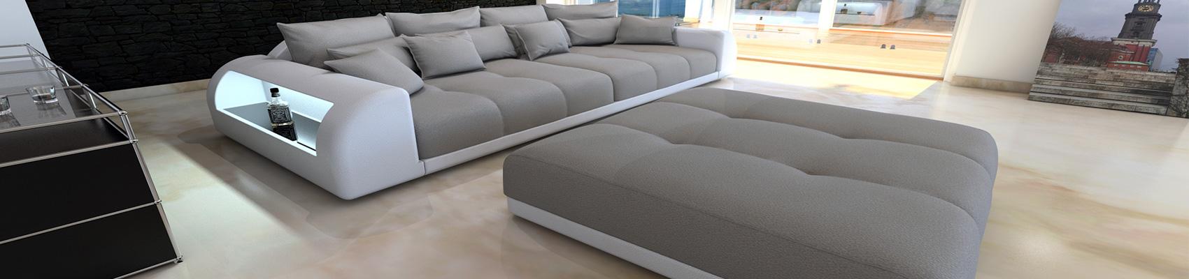 Små stof Sektions sofaer