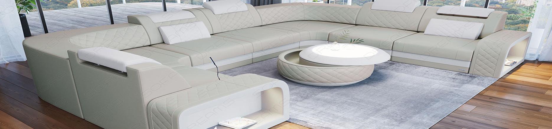 X-large sektions sofaer i læder