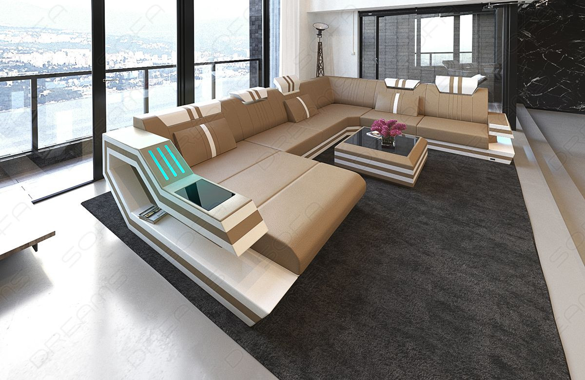 Design Sofa Hollywood XL sandbeige-white