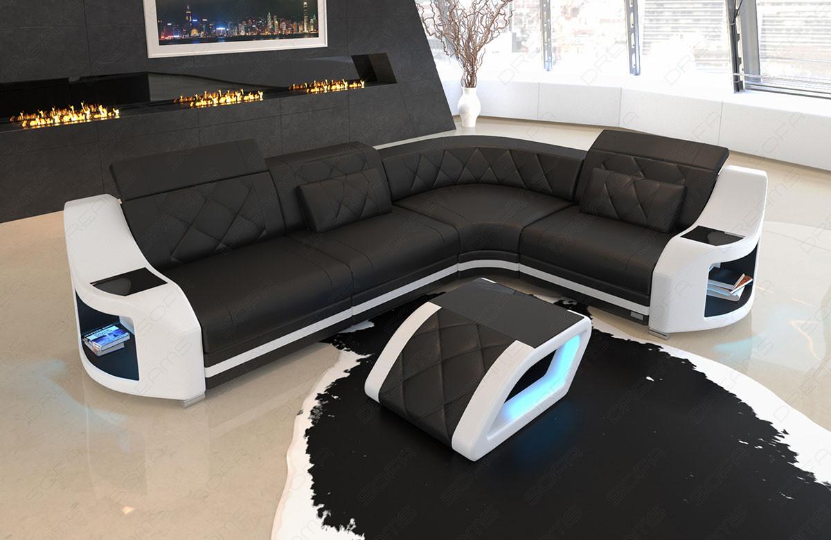 elegant design sofa Columbia in black - white