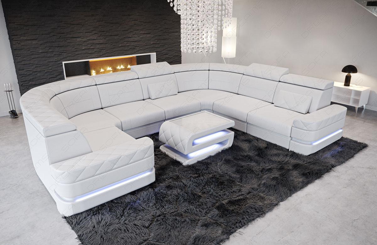 Picture of: Laeder Sofa Positano I U Form Moderne Hjorne Sofa