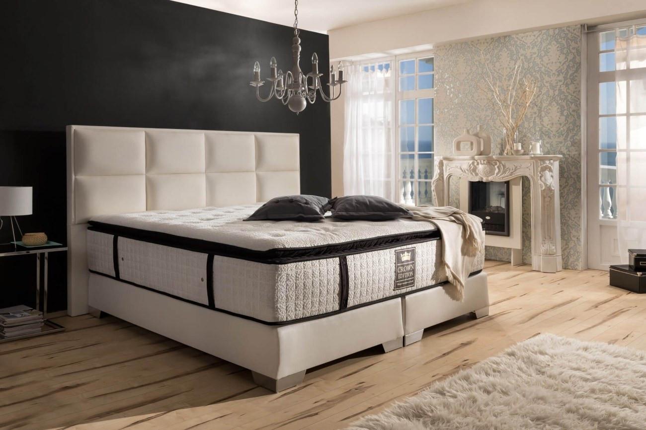 Boxspring Bed Hampton in white