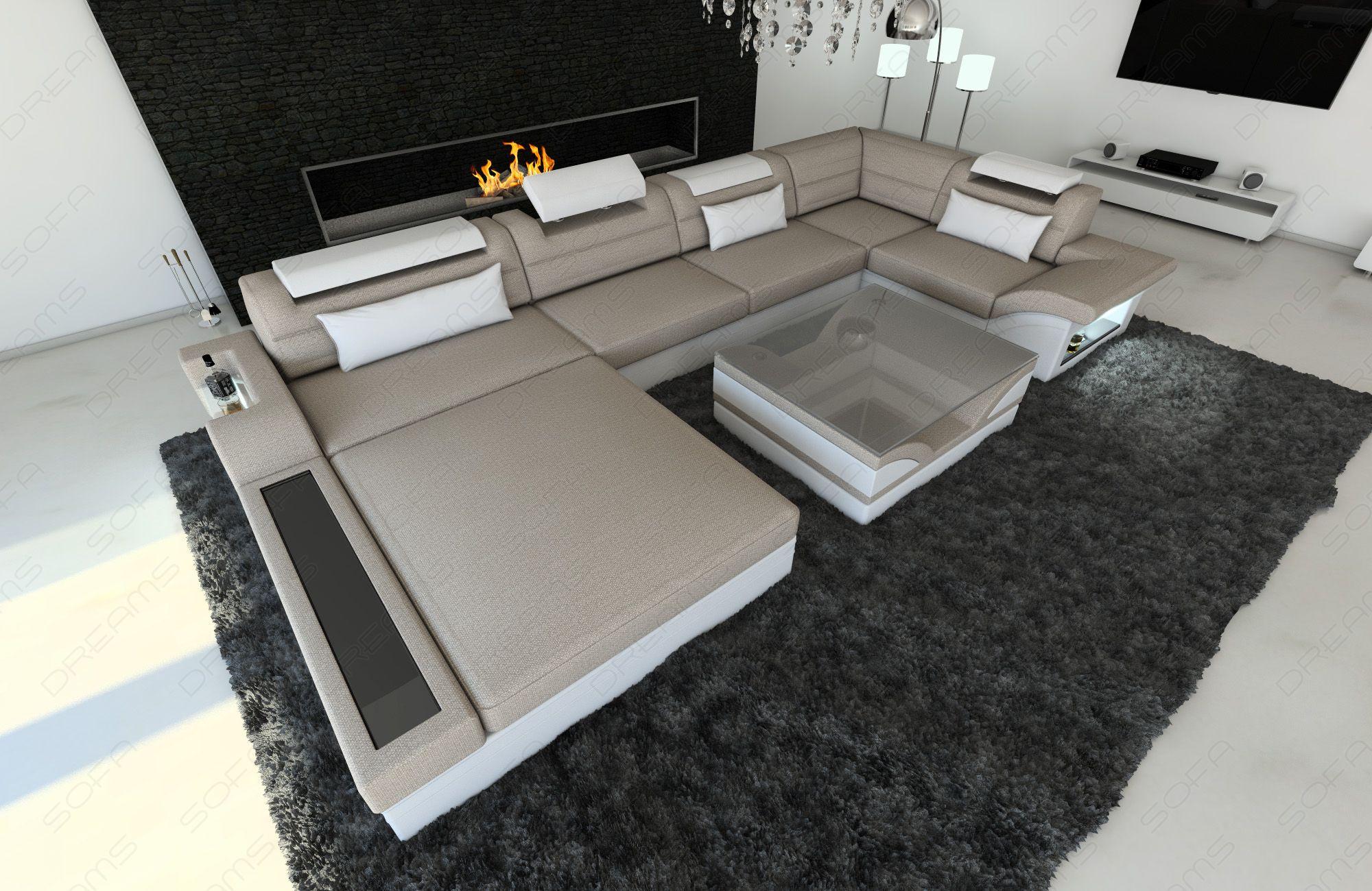 Luxury Fabric Sofa Orlando with LED - Hugo 4