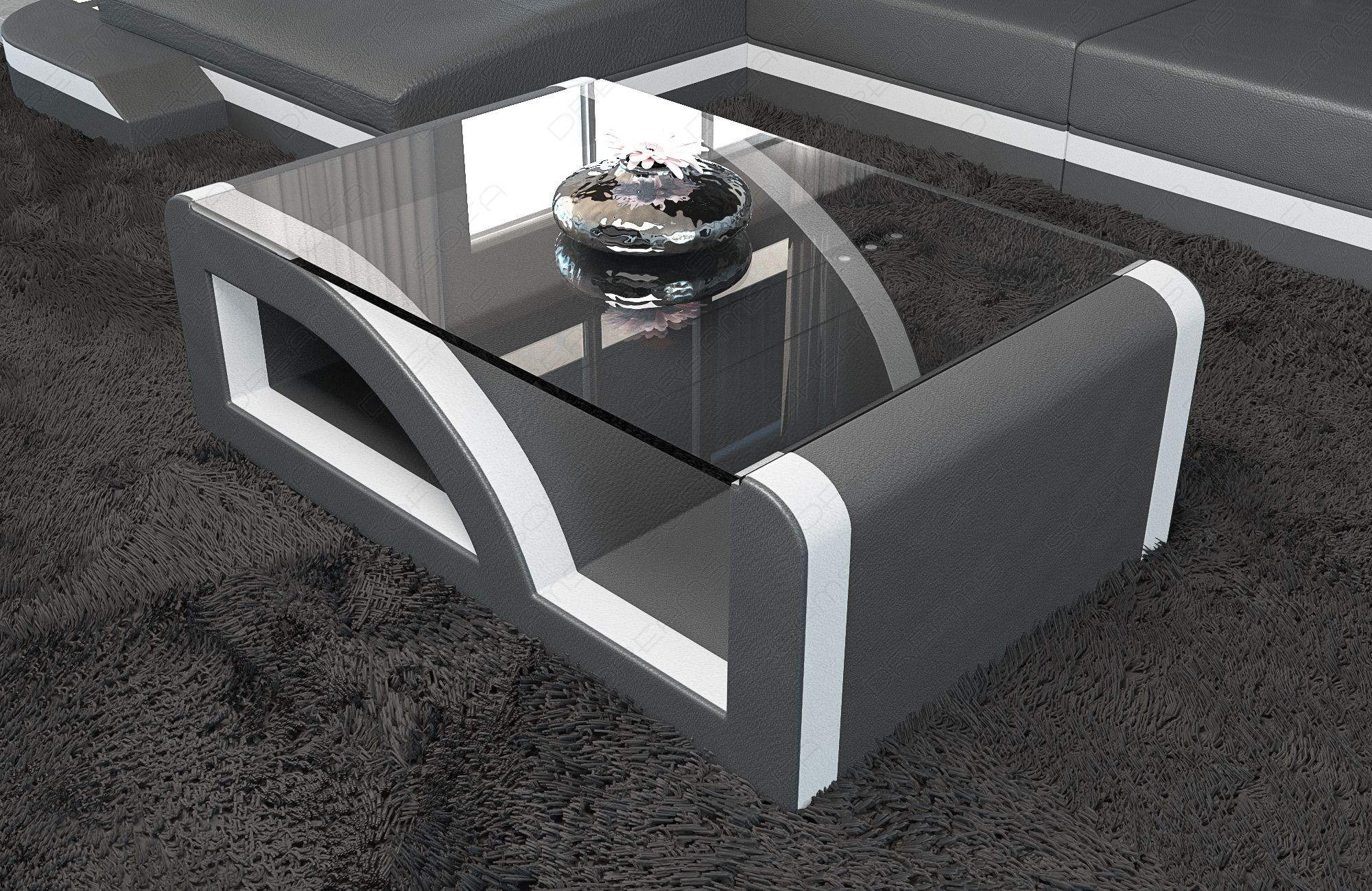 Design Living Room Table Detroit grey-white