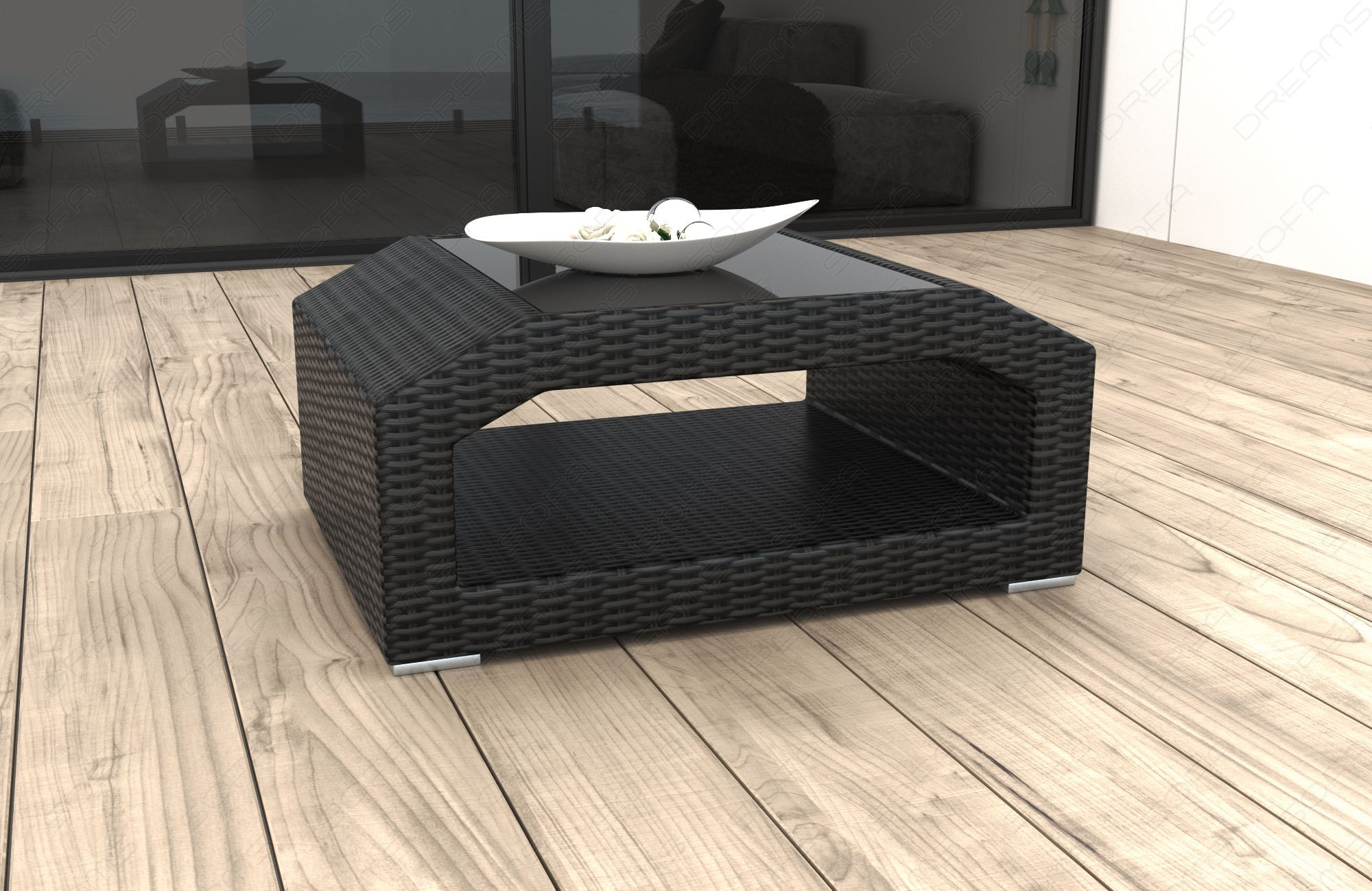 Modern Wicker Lounge Coffee Table