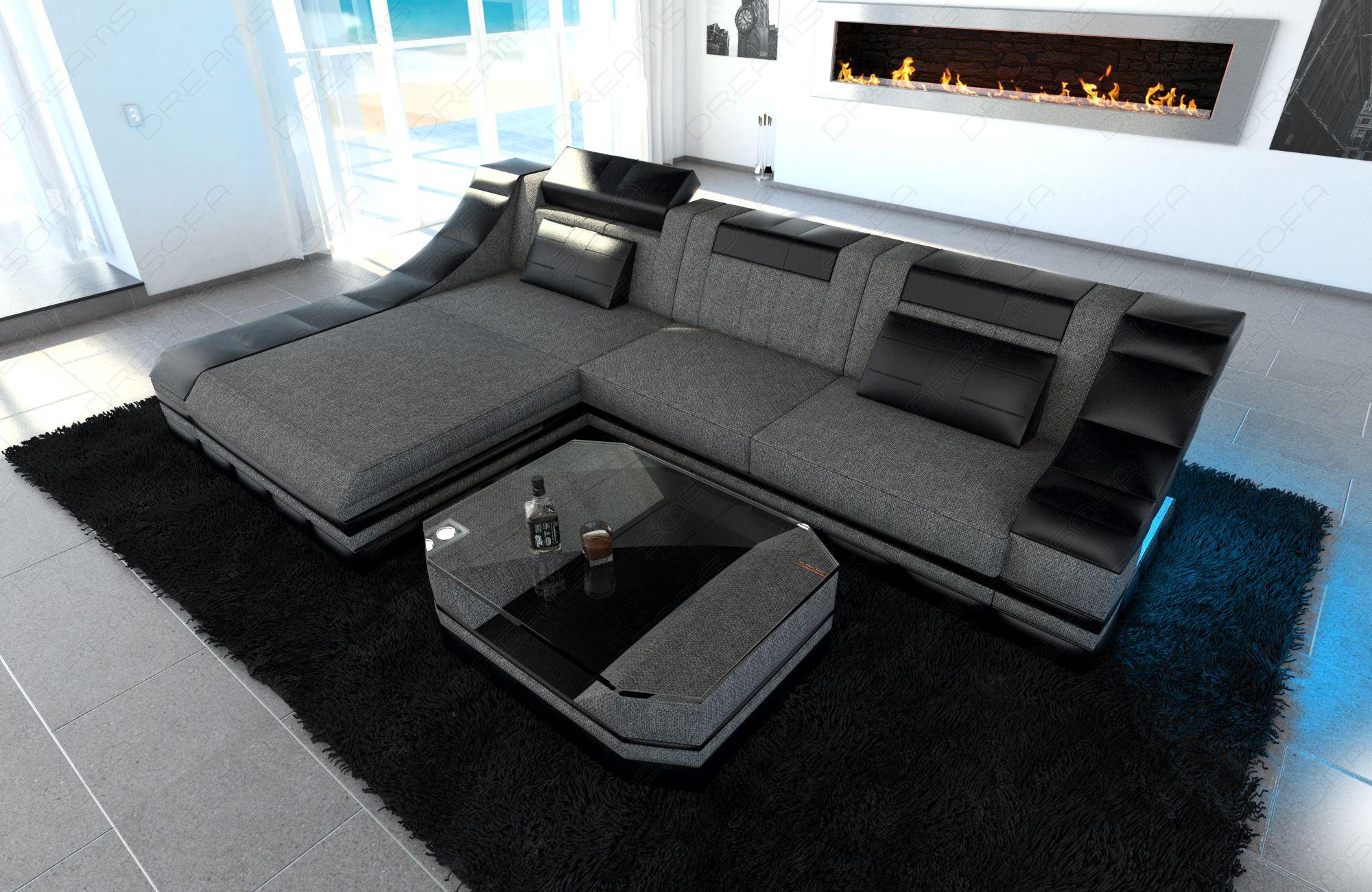 Modern Fabric Sofa New York L Shape grey(Hugo 5)