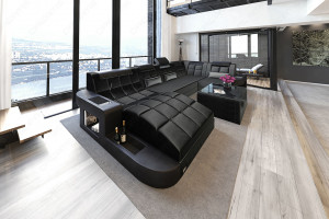 Design Stof Sofa Jacksonville U Form med LED Yandy not active