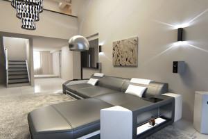 corner sofa Dallas L Shapes grey-white