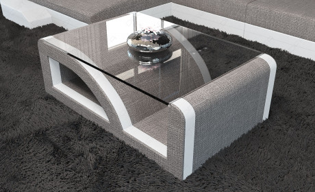 Modern Fabric Coffee Table lightgrey- Hugo 3
