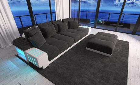 modern Fabric Sofa Austin with LED - grey- Hugo 12