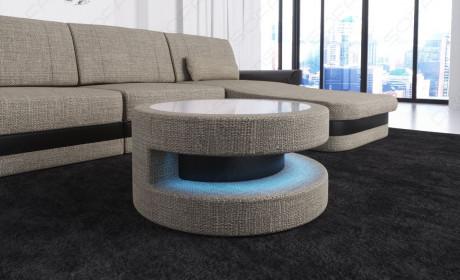 fabric leather mix table - Hugo 4