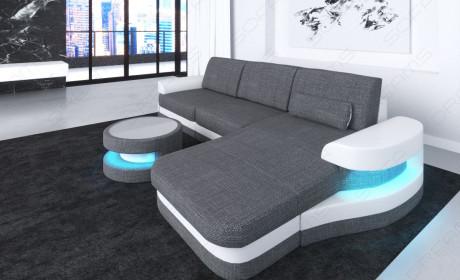 fabric leather mix sofa Tampa L Shape - Hugo 5