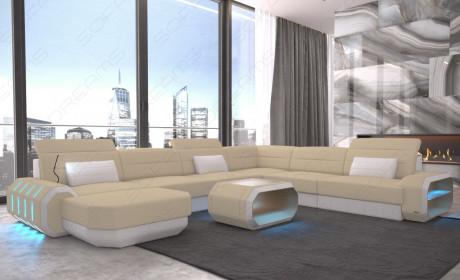 fabric leather mix sofa Brooklyn XL Shape - Mineva 4