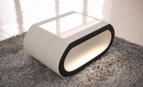 fabric coffee table concept - microfibre beige Mineva 1