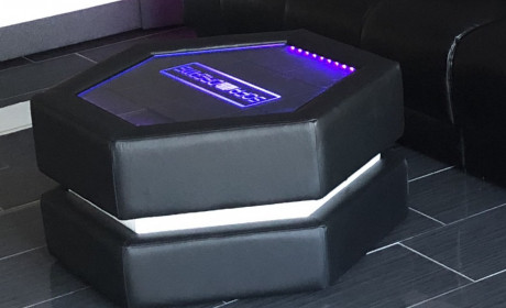 Coffee Table Flash with LED Lights and optional engraving