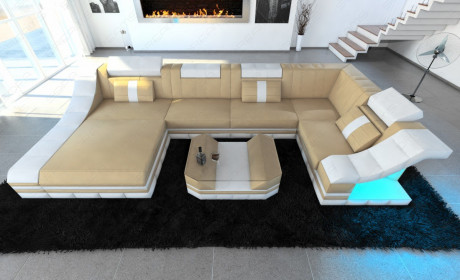 Luxury sofa New York sandbeige white