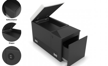 supplementary component with drawer 2x USB Ports