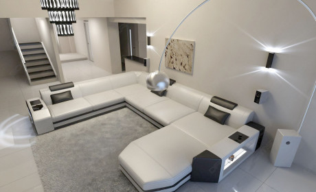 xl leather sofa modern design