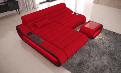 Big Luxury Sofa Concept LED lights - red Fabric Mineva 20