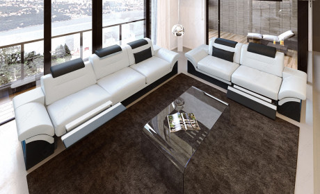 Modern Sectional 3 and 2 Chicago white-black