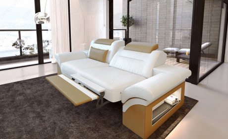 2 Seat Sofa Chicago (white-red)