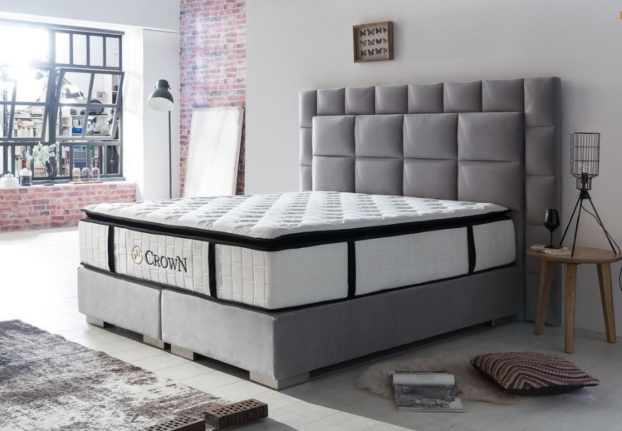 Design box spring bed New York with luxury mattress