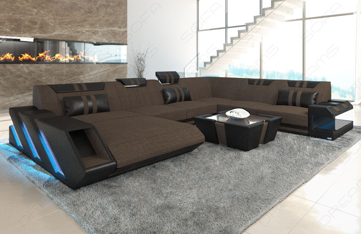 Modern Sectional Sofa New Jersey Xl Shape Darkbrown Hugo 8