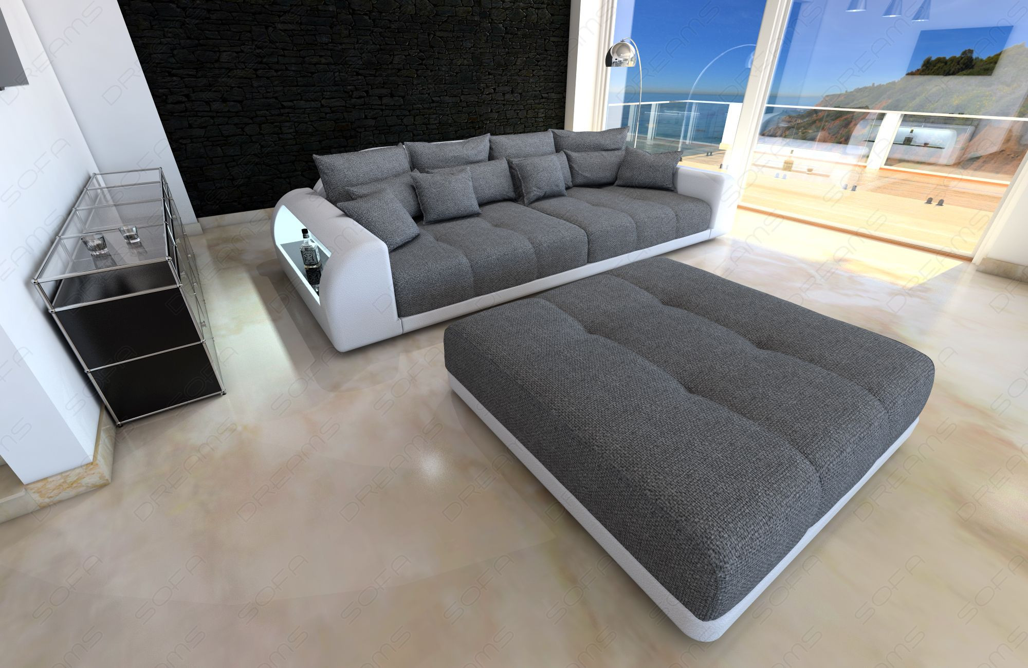 Picture of: Stor Stofsofa Comfortzone Miami Led Mobler