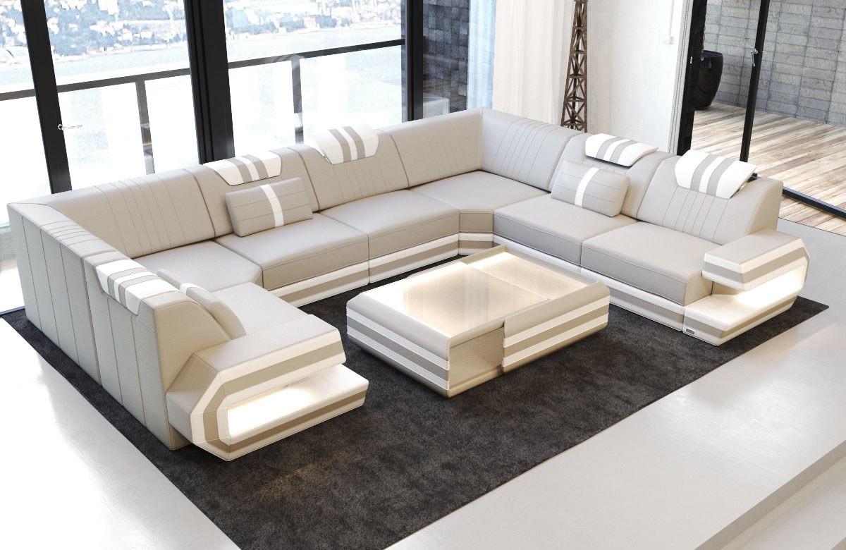 luxury sofa san antonio u shaped beige white. Black Bedroom Furniture Sets. Home Design Ideas