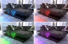 Couch Beverly Hills with LED RGB lighting incl. Touch Wheel remote control
