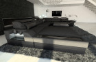 Modern Fabric Sofa Orlando with LED Lights black - Hugo 14