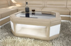 Design coffeetable Dallas - sandbeige-white