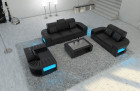 Modern sectional Sofa 3-2-1 Boston with LED black