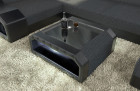 Fabric Mix Coffee Table Houston with LED - grey - Hugo 12