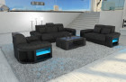 Modern Sectional Sofa Boston with LED grey - Hugo 12
