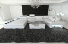 Luxury Fabric Sofa Orlando with LED white - Mineva 2