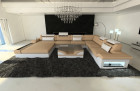 Big Fabric Sectional Sofa Orlando XL LED sandbeige - Mineva 4