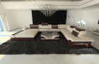Modern Fabric Sofa Orlando with LED Lights beige - Mineva 1