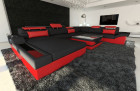 Big Fabric Sectional Sofa Orlando XL LED black - Mineva 14