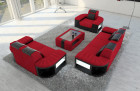 Fabric Sofa 2-3-1 Boston LED red - Mineva 20