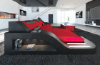 Fabric Sofa Detroit L Shape LED red - Mineva 20