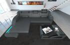Modern Corner Sofa Detroit L Shaped grey-black