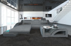 Modern Corner Sofa Detroit with LED Lights grey - Hugo 5