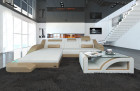 Design Fabric Sofa Detroit L Shaped ivory - Hugo 1