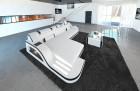 Luxury Sectional Sofa with LED lightings white-black