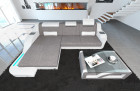 Modern Corner Sofa Detroit with LED Lights light grey - Hugo 2