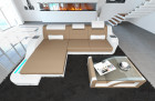 Design Fabric Sofa Detroit L Shaped sand - Mineva 9